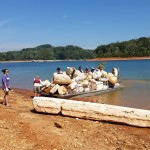 Styrofoam is a big problem on the lake.  We work hard to drag it ashore.